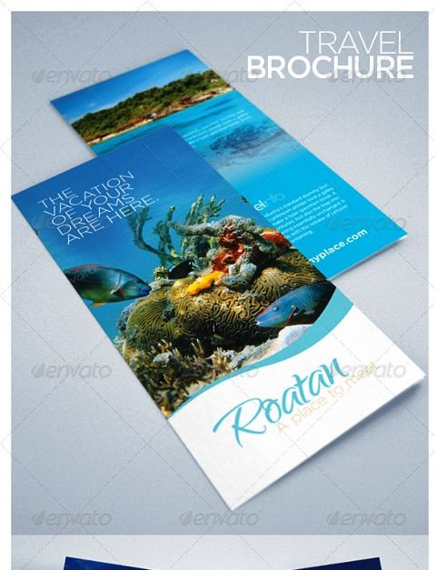tourist pamphlet template