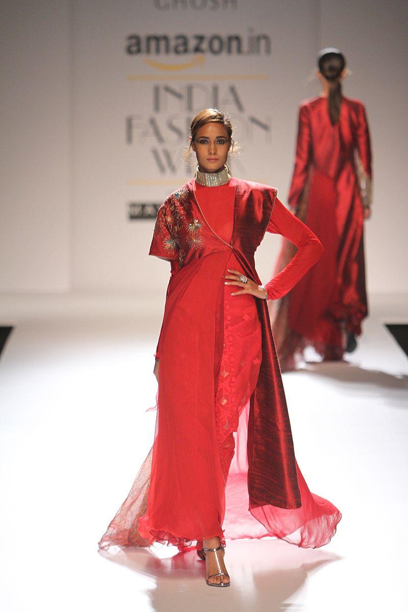 By designer Kiran Uttam Ghosh. Shop for your wedding trousseau, with a personal shopper & stylist in India - Bridelan, visit our website www.bridelan.com  #Bridelan #bridelanindia #KiranUttamGhosh #amazonindiafashionweek #amazonfashionweek2016 #autumnwinter