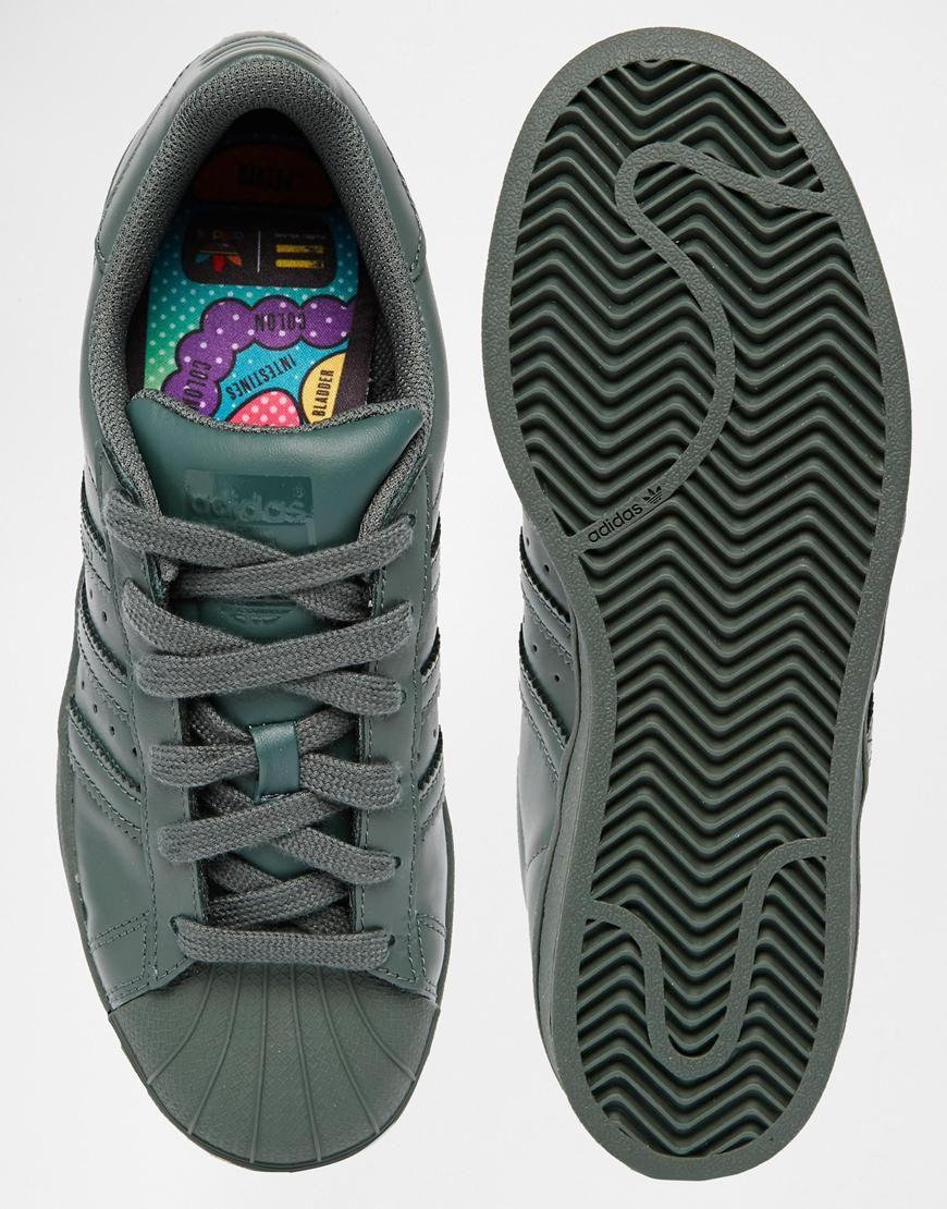 319a4216d2a Image 3 of Adidas Originals Pharrell Williams supercolor Grey Trainers