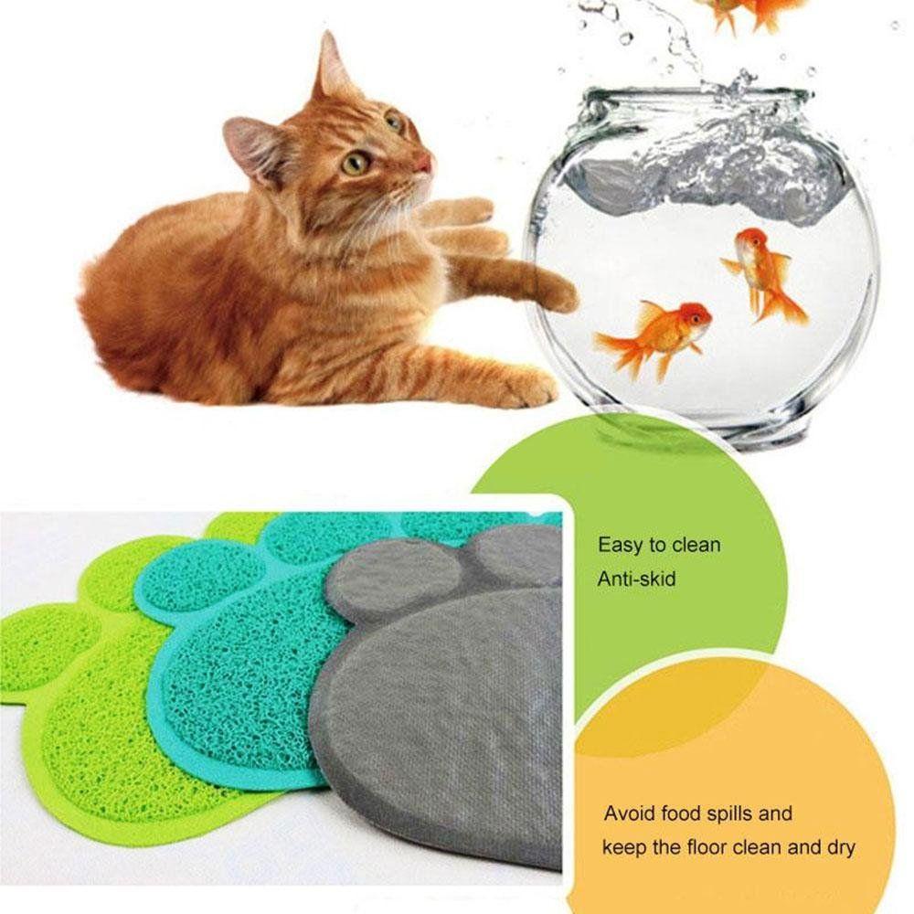 Aolvo Cat Litter Mat BPA Free Premium Kitty Litter Mat