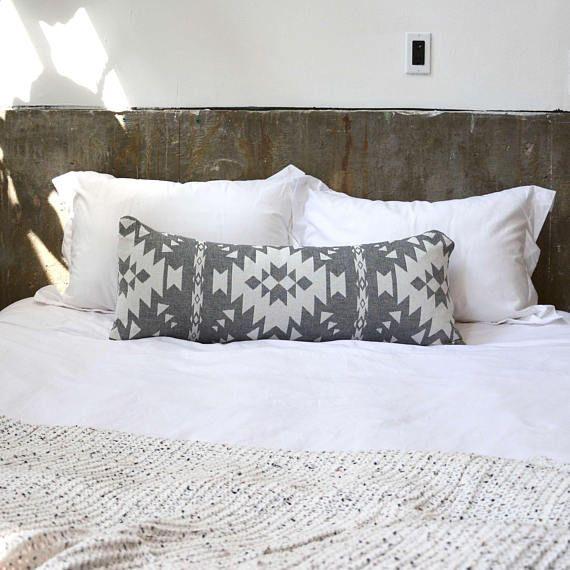 Kilim Pattern Extra Long Lumbar Pillow GREY 14X36 | Home | Pinterest ...
