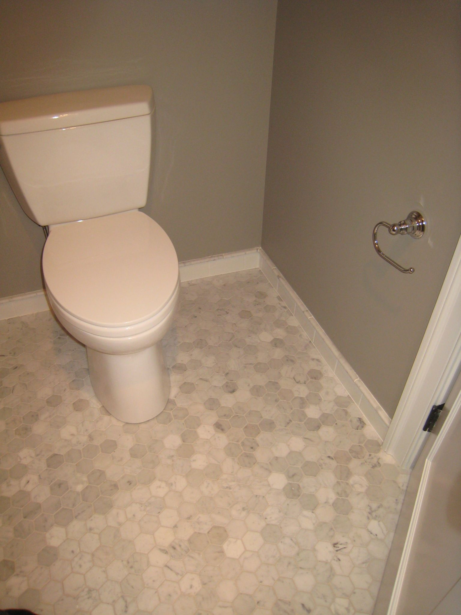 "Bathroom Tiles Nj bianca carrara marble 2"" hexagon floor tile. bathroom floor"