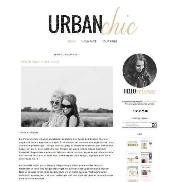 Premade Blogger Template Blog Design for di