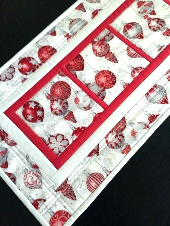 Christmas Table Runners To Sew.Red Christmas Table Runner Acceptable Table Runners Quilted