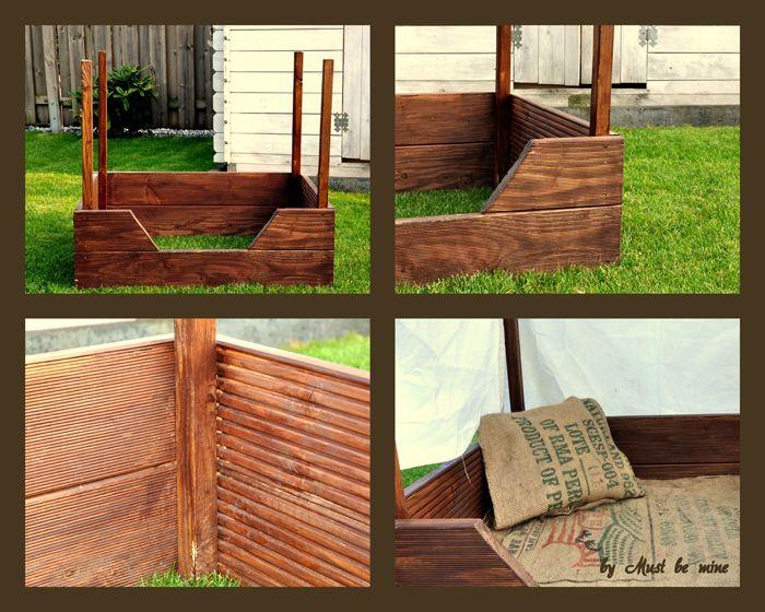 hundebett aus holz terrassenreste hund und katz. Black Bedroom Furniture Sets. Home Design Ideas