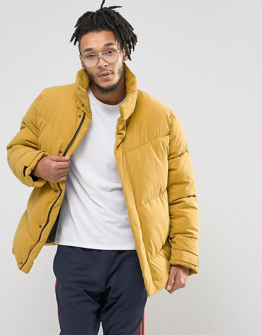 708878bc1 ASOS Oversized Puffer Jacket in Yellow - Yellow | FW | Jackets ...
