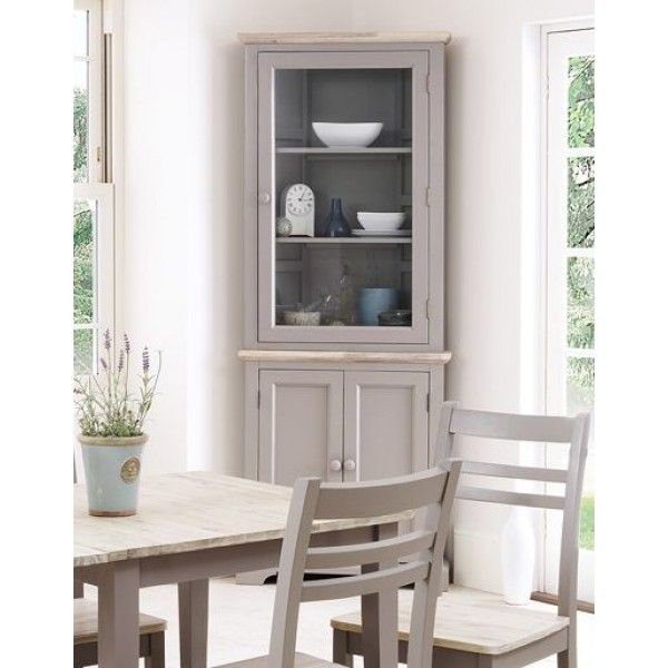 Florence Dove Grey Painted Corner Display Cabinet | decoration ...