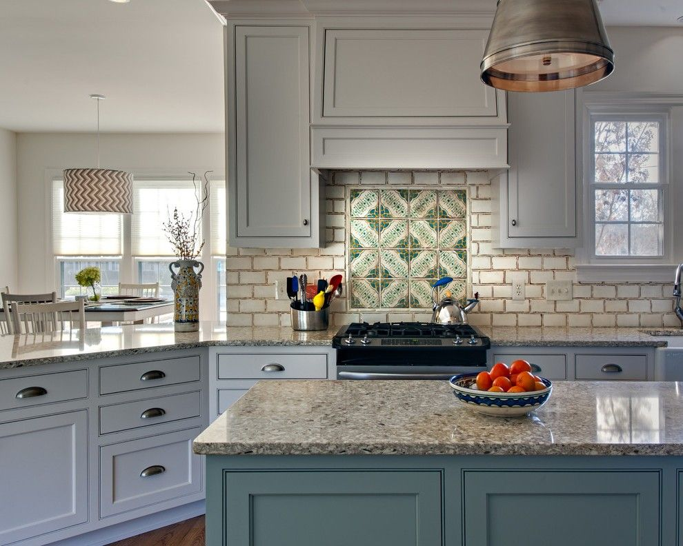 french provincial kitchen mediterranean with cooktop traditional