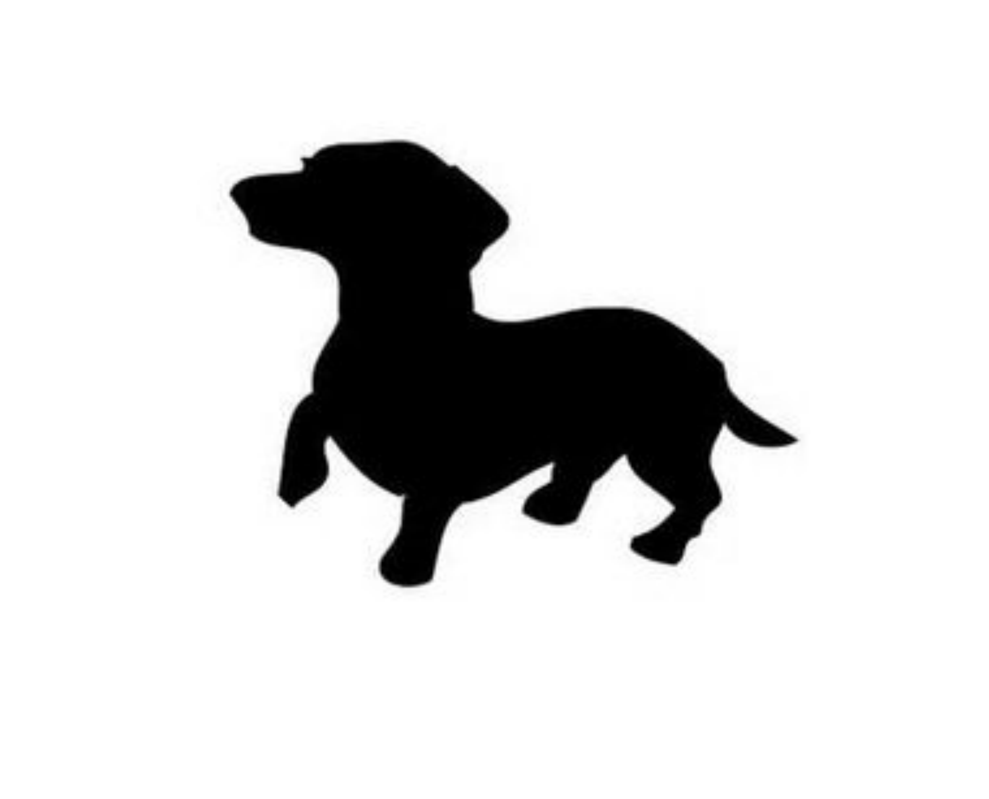 dachshund silhouette clip art dog cat clip art pet graphics rh pinterest com dachshund clipart free black and white dachshund clip art images
