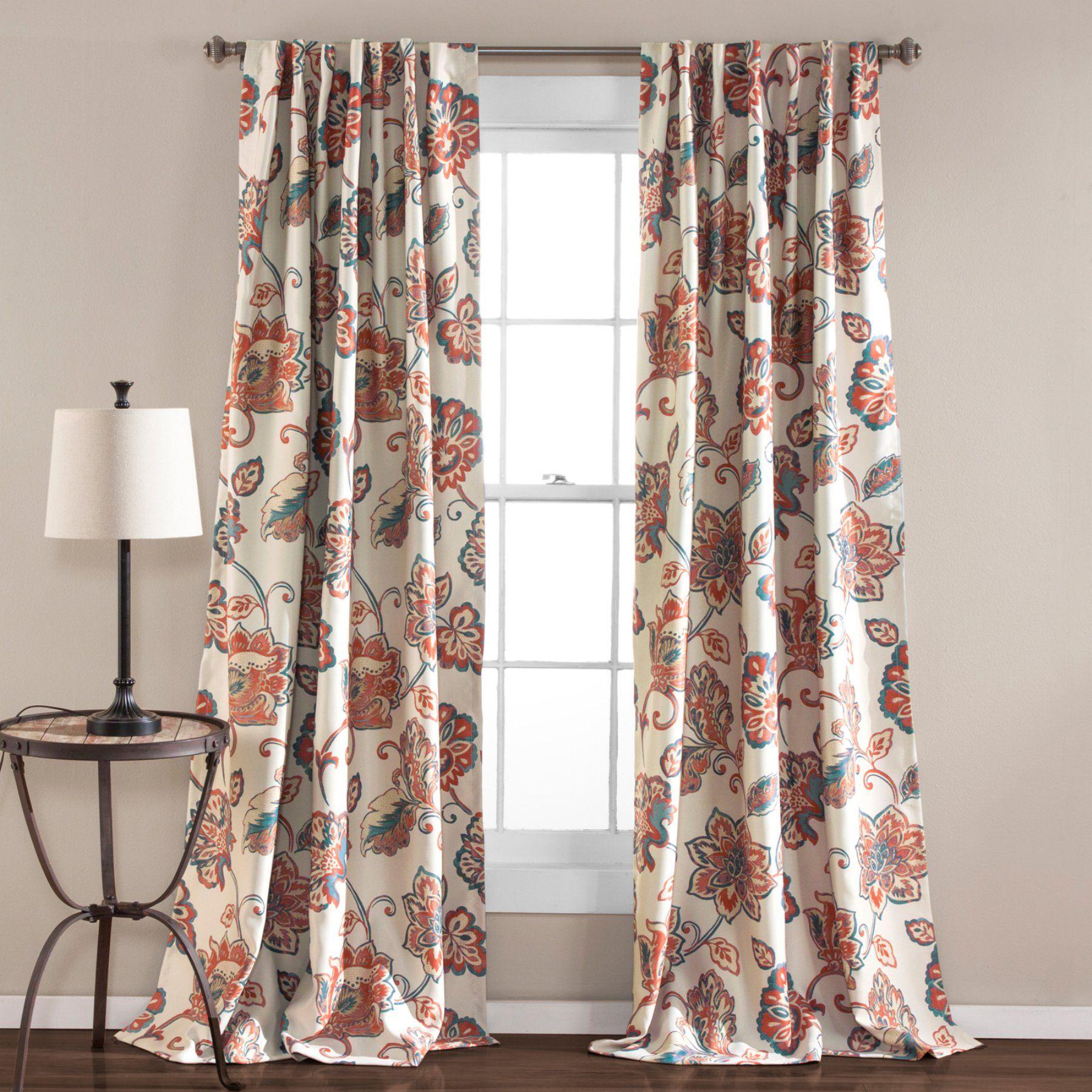 Lush decor aster window curtain set cp window