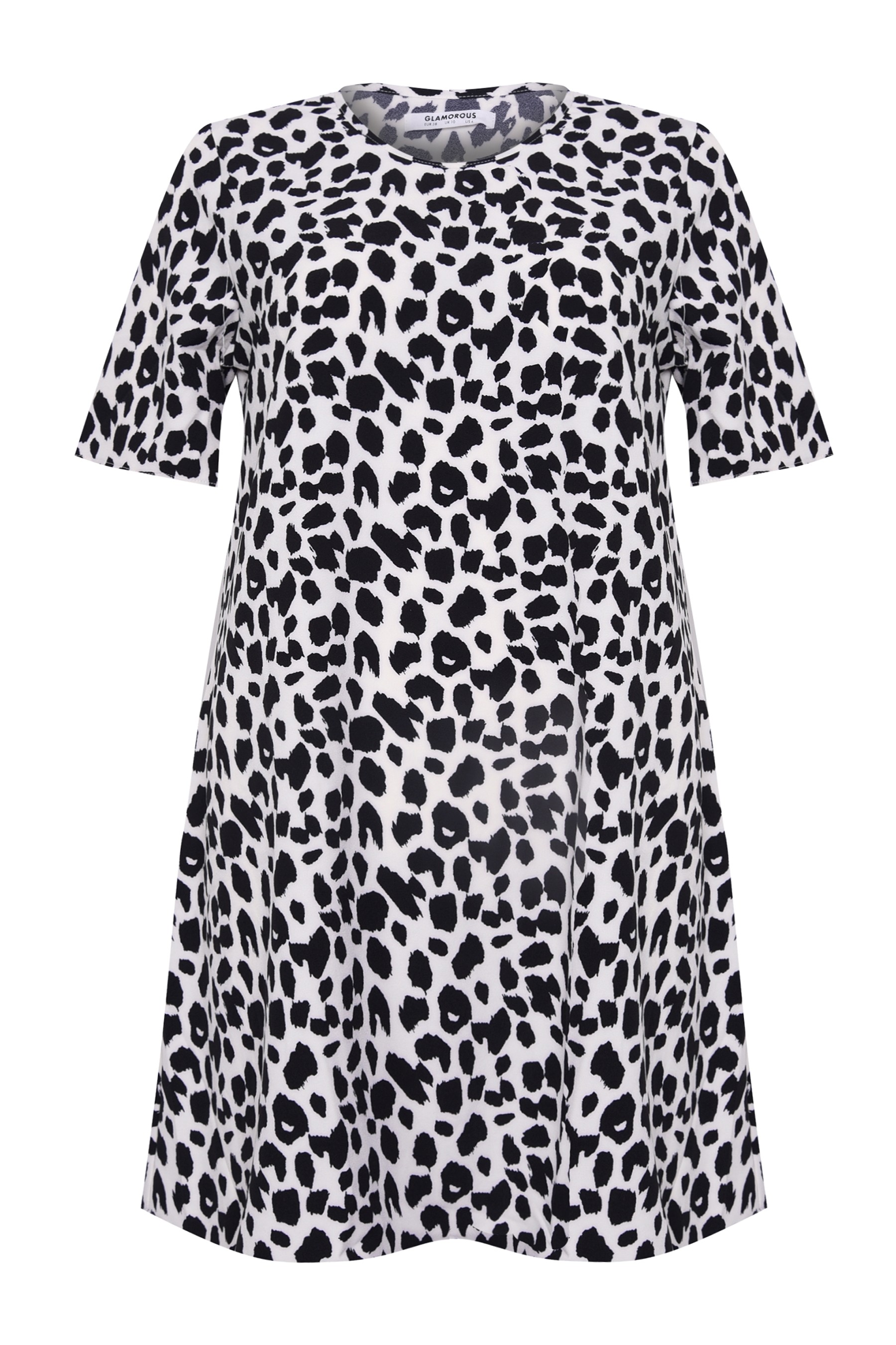 14181d07f68 Womens Glamorous Animal Print Shift Dress - Black in 2019