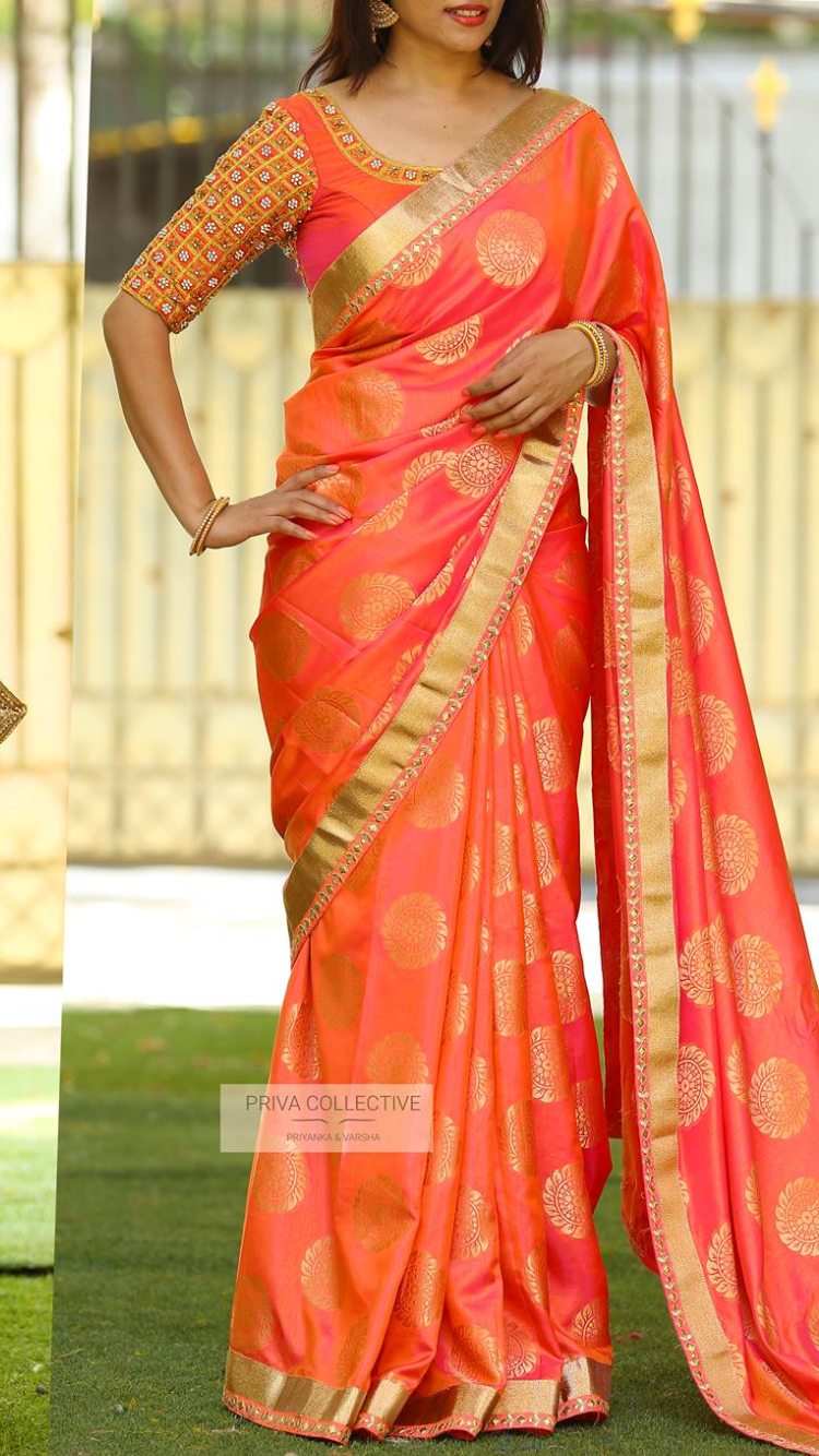 Saree Border Idea Sarees Silk Saree Blouse Designs