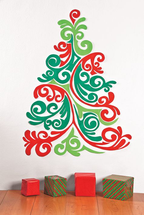 Arbolitos Miniatura Para La Pared Arbol De Navidad Pared