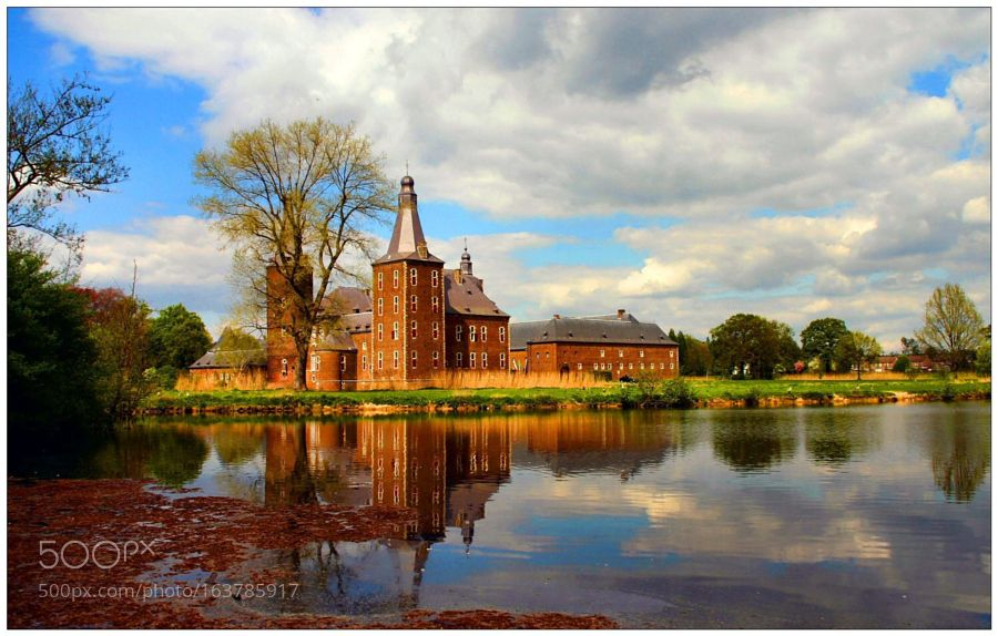 """Reflection near castle Hoensbroek Go to http://iBoatCity.com and use code PINTEREST for free shipping on your first order! (Lower 48 USA Only). Sign up for our email newsletter to get your free guide: """"Boat Buyer's Guide for Beginners."""""""