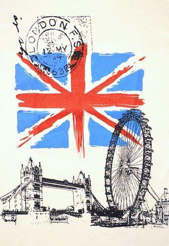 Epingle Par Cyndell E F Sur Viajes Que Deseo Realizar Drapeau Angleterre Illustration De Ville Londres Angleterre