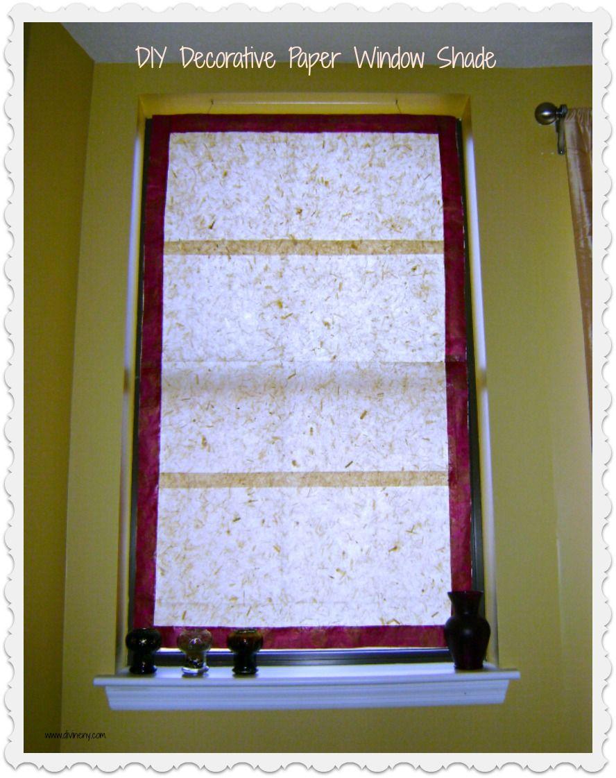 Diy Window Treatment With Handmade Paper Diy Decor