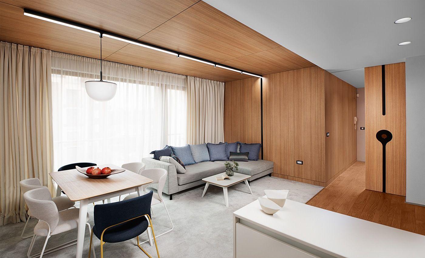 Minimalist Apartment Design With Simple Wooden Interior Apartment