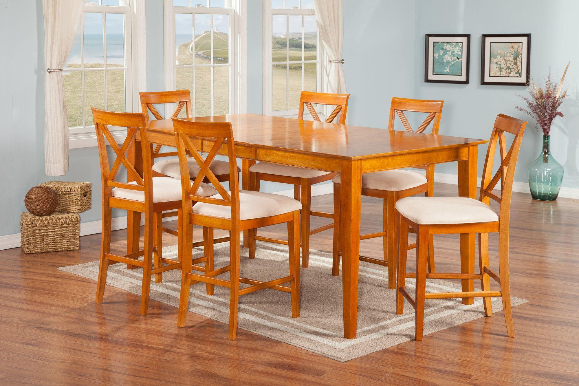 Crestwood 7 Piece Pub Table Set
