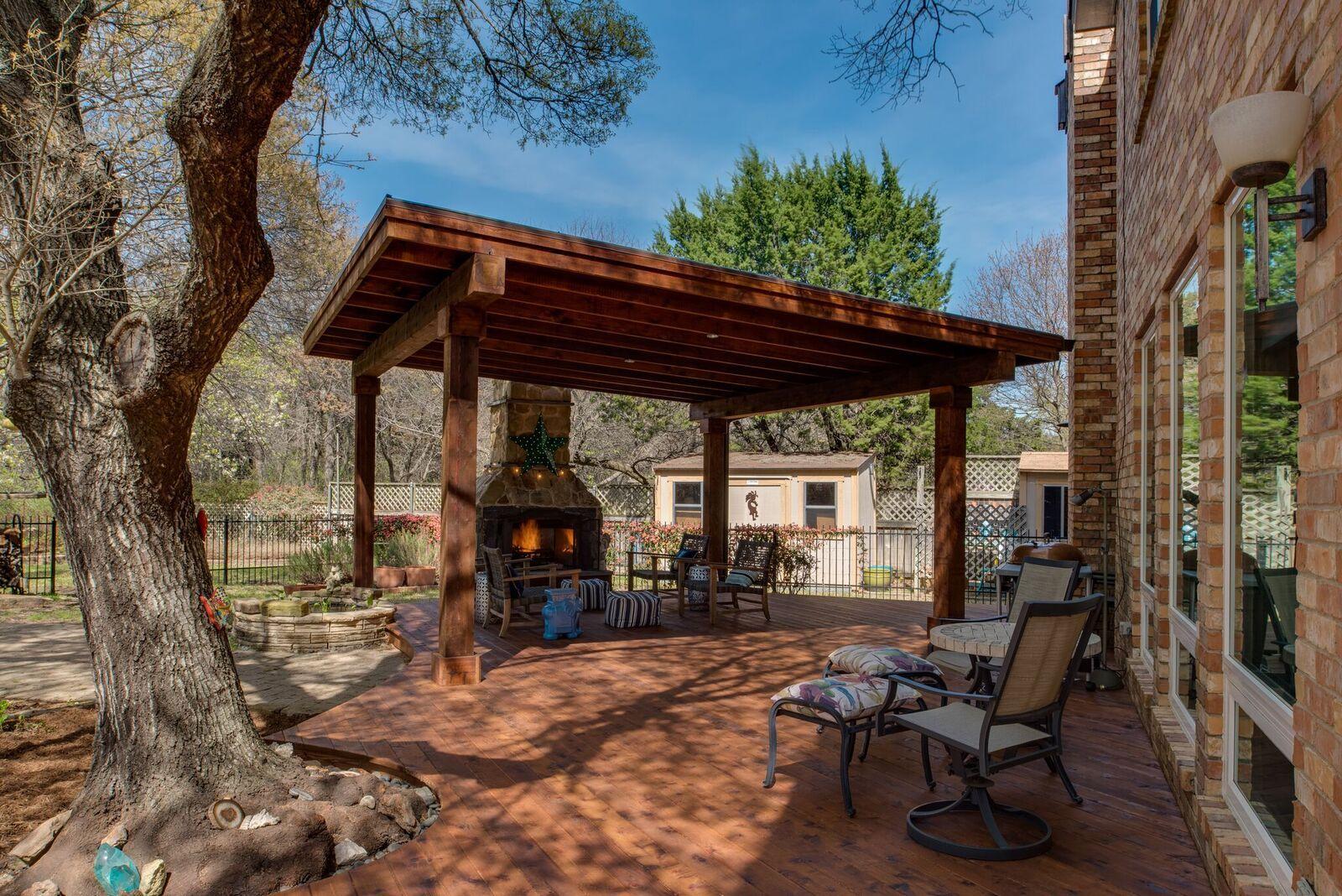 Custom cedar pergola outdoor living Texas Pergola