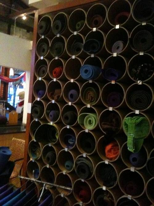 This Creative Yoga Mat Storage System In The Pearl Makes You Want To Store Your Colorful