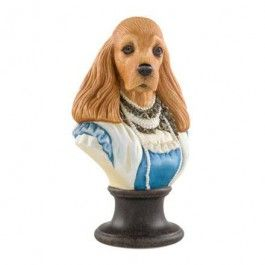 "Goebel - Thierry Poncelet - Miss Eugénie - Porcelain bust - Porcelain bust ""Miss Eugénie"" from the series ""Ancestral Dog Portraits"" by Thierry Poncelet. Height: 17 cm."