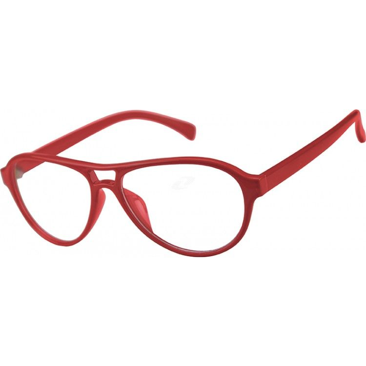 A modified Aviator style full-rim plastic frame, with a more solid ...
