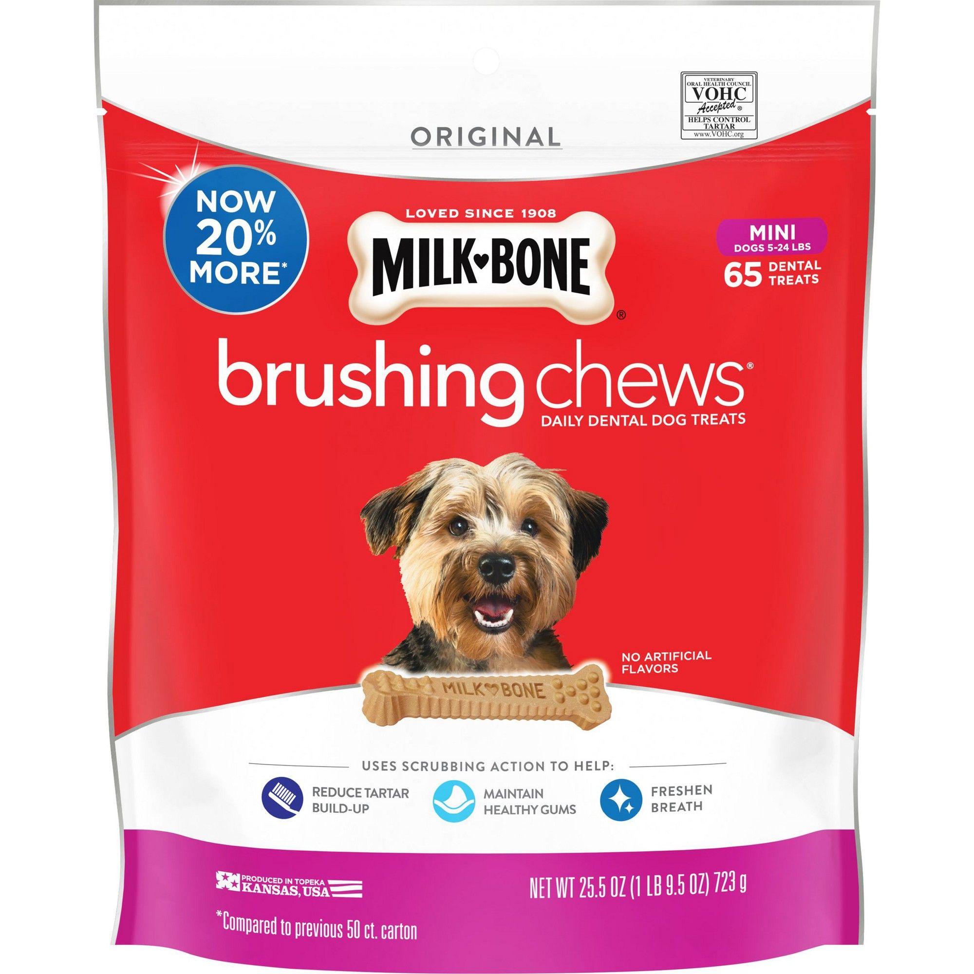 Milk Bone Brushing Chews Mini 19 6oz Size 25 5oz Dental Dog