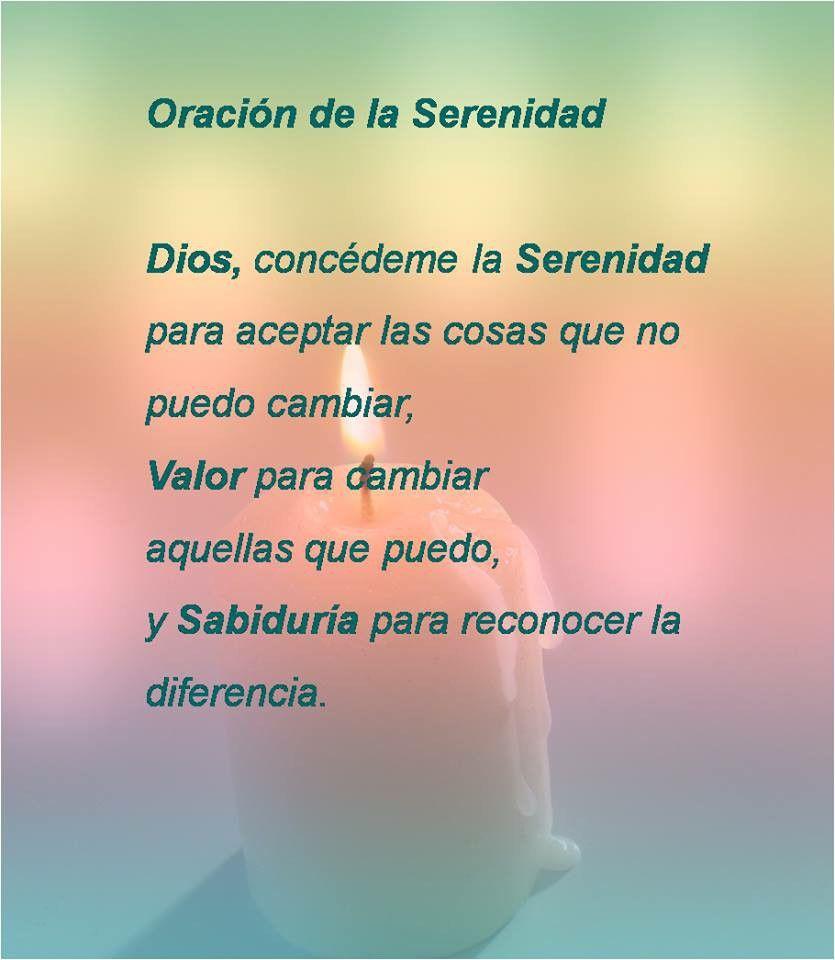 Oración de la serenidad   quote   Pinterest   Serenidad, Oración y ...