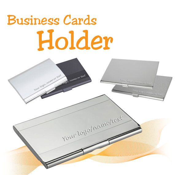 Metal personalised business card holder laser engraved with name metal personalised business card holder laser engraved with namelogo uk gift free uk delivery reheart Images