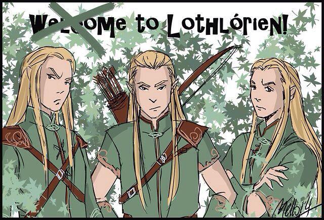 Orophin, Haldir, and Rumil