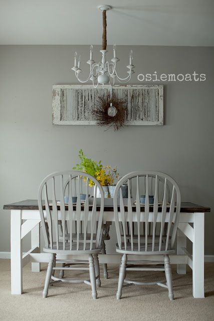 Farmhouse Table Rustic Dining Room White Gray Www