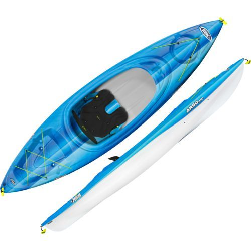 The Pelican Argo 100 10 Ft Kayak Is Made Of Ram X Polyethylene And Features An Adjustable Padded Backrest Kayaking Kayak Accessories Kayak Storage