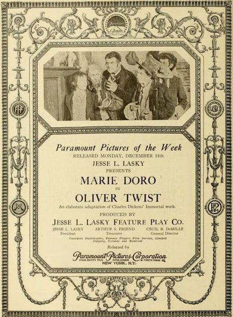 Oliver Twist, 1916