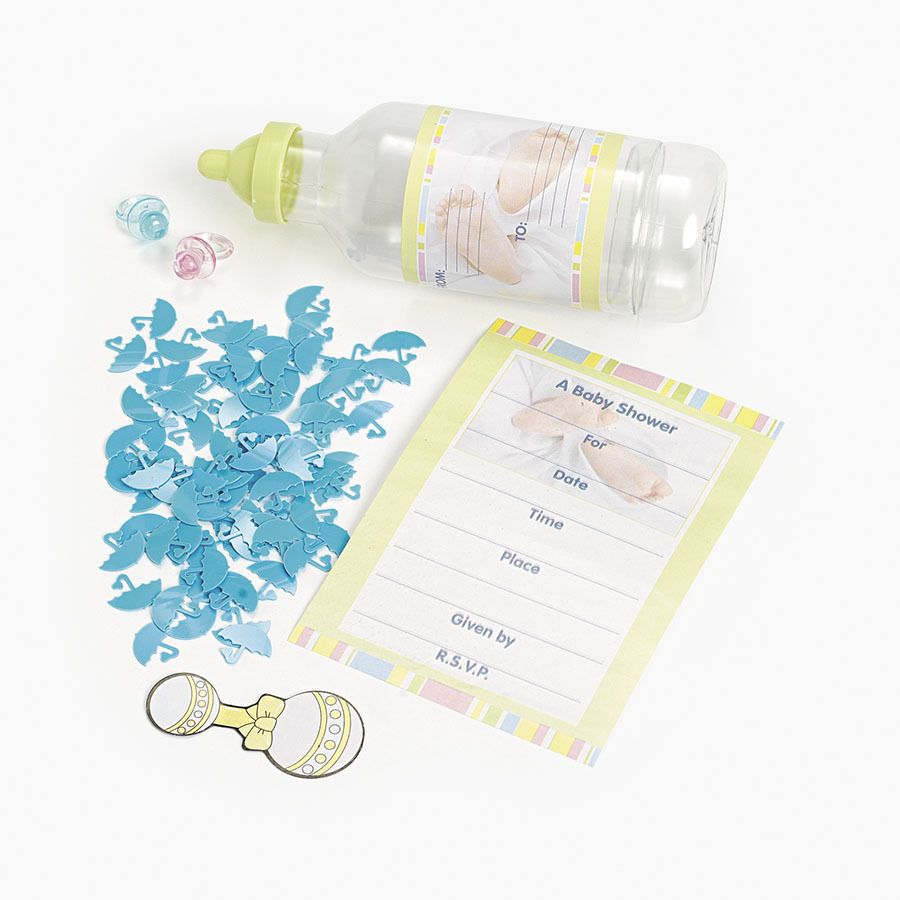 Extravagant Idea For A Baby Shower Invitation   A Message In A Bottle