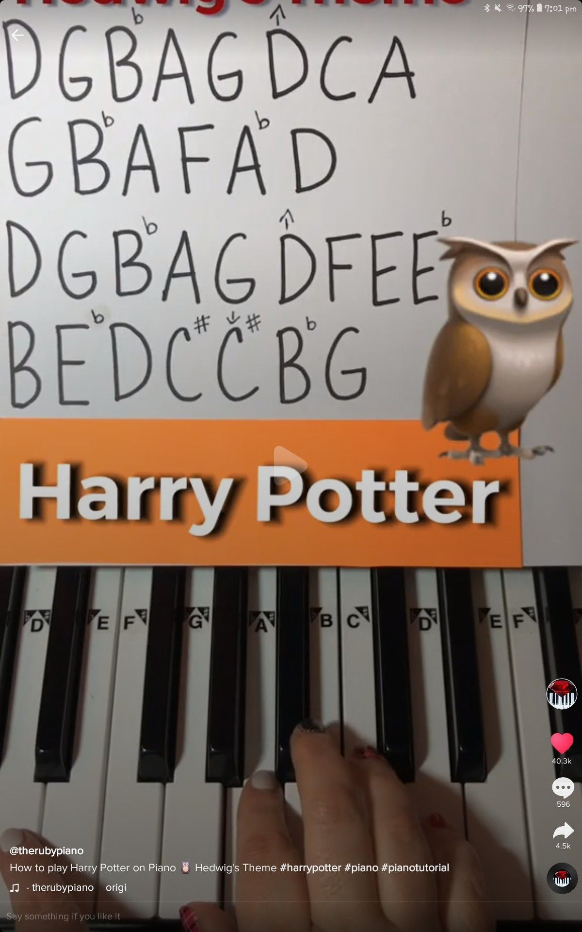 Pin By Shahd On Music Piano Notes Songs Piano Sheet Music Letters Harry Potter Music