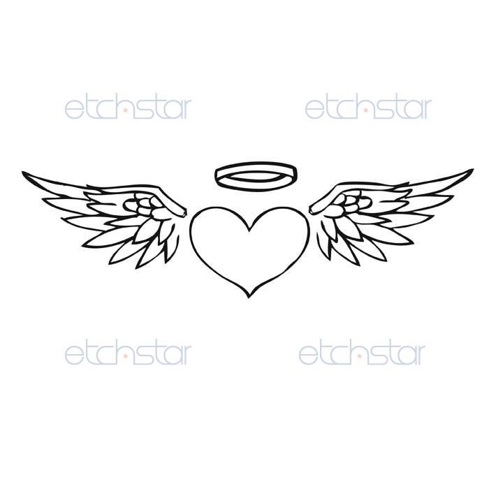 design inspiration dancamacho com design design like you mean it rh pinterest com small angel wings with halo tattoos Angel Wing Tattoos with Initials