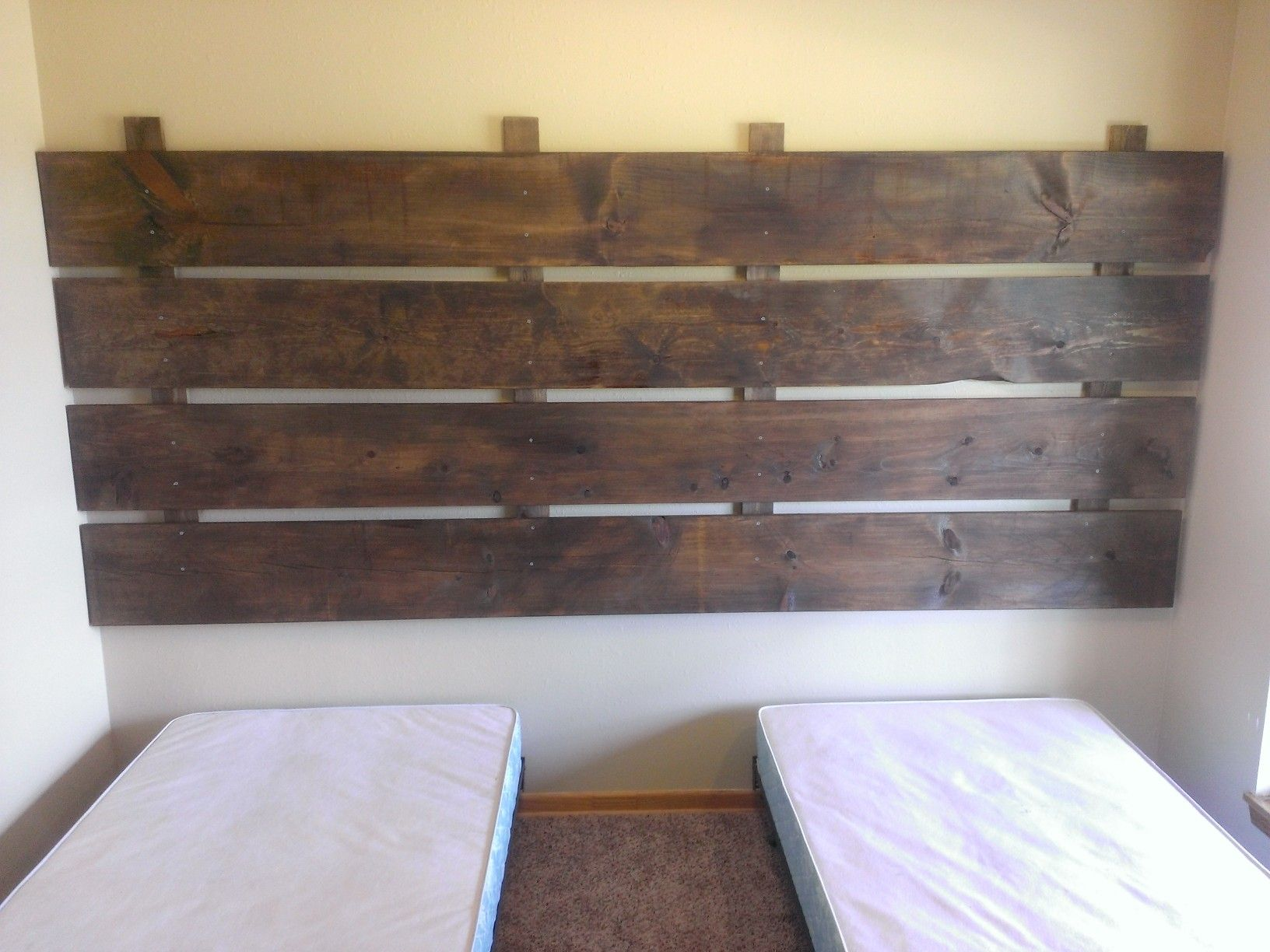 Rachael and I made new headboards for room #1, also known as The Lonesome Dove room.
