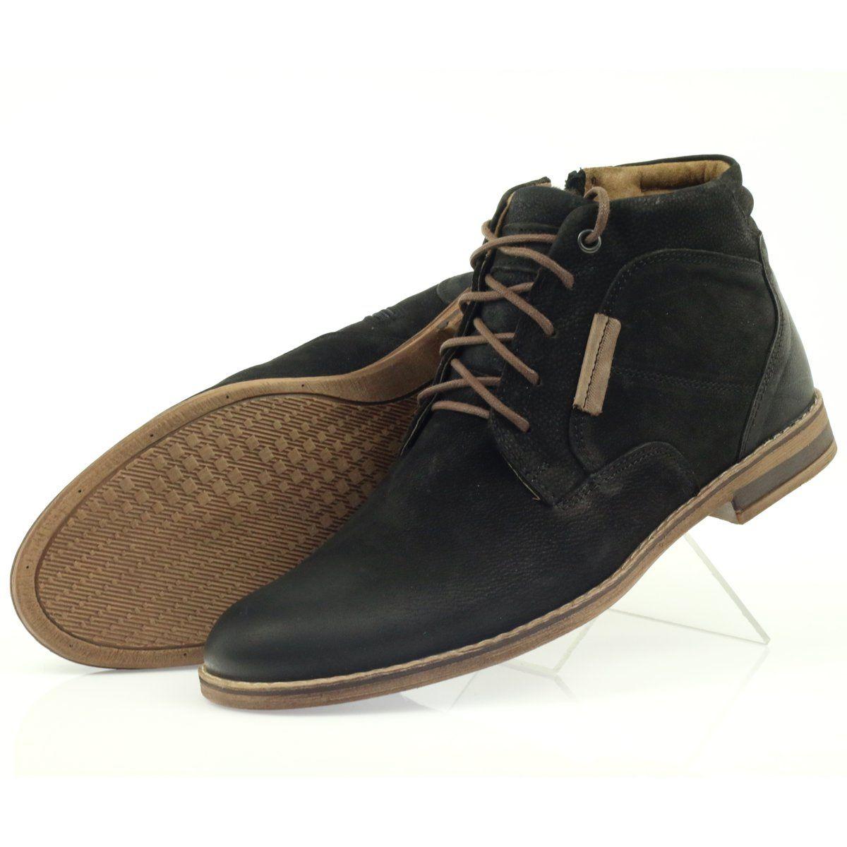 Riko Botki Sztyblety Buty Meskie Na Suwak Czarne Boots Chukka Boots Shoes