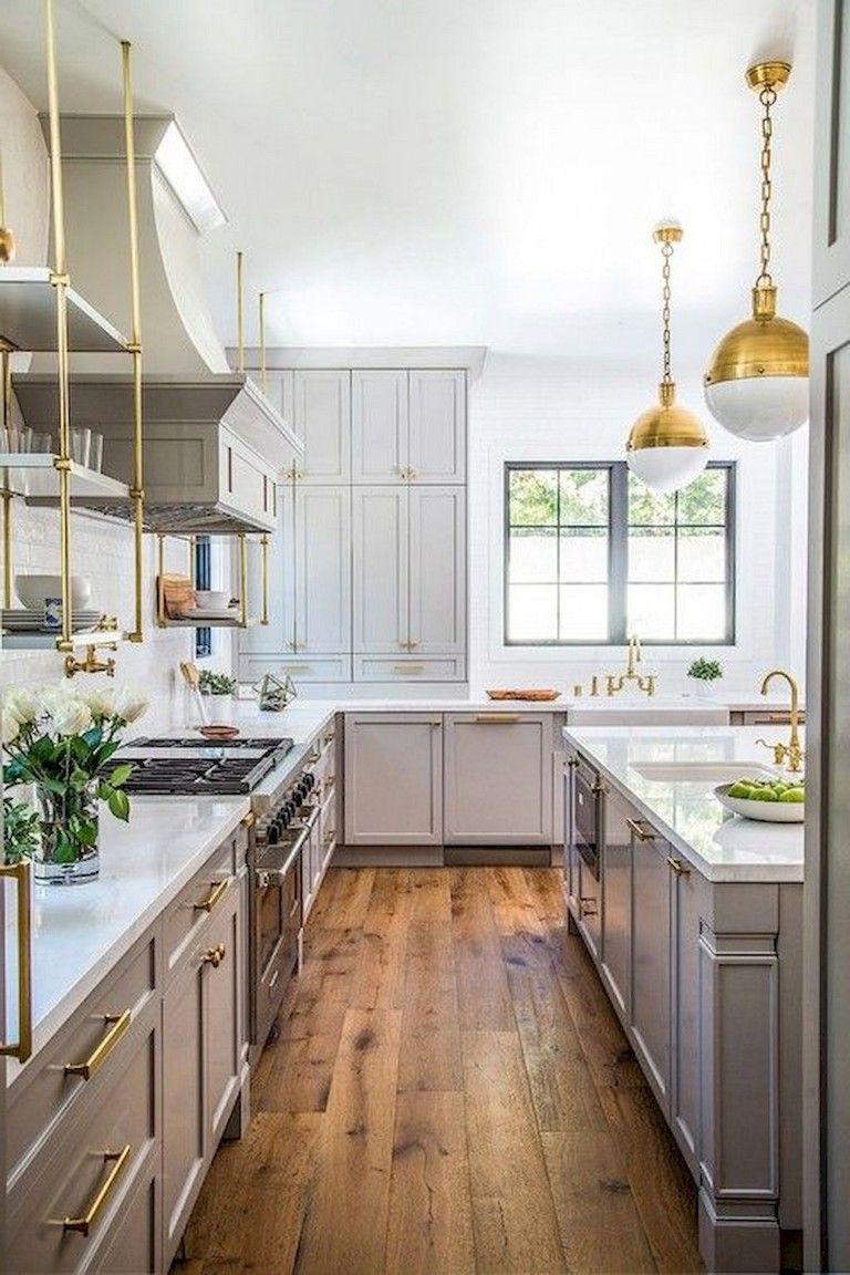 60+ Awesome Modern Farmhouse Style Kitchen Makeover Decor Ideas #modernfarmhousestyle