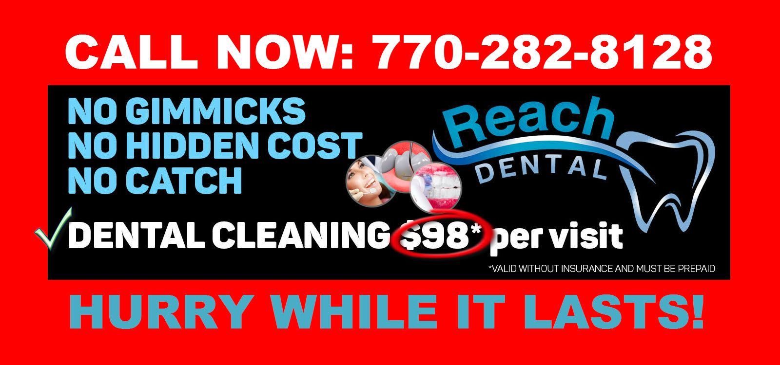 Dental cleaning 98 only per visit hurry httpwww