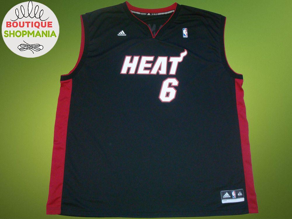 more photos 2c117 64986 Details about NBA MIAMI HEAT BASKETBALL SHIRT JERSEY ADIDAS ...