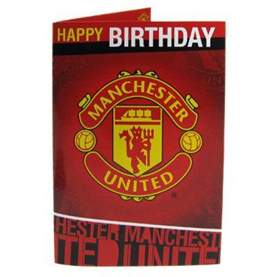 Manchester United F C Musical Birthday Card Musical Birthday Card Approx 22 5cm Manchester United Wallpaper Manchester United Manchester United Logo