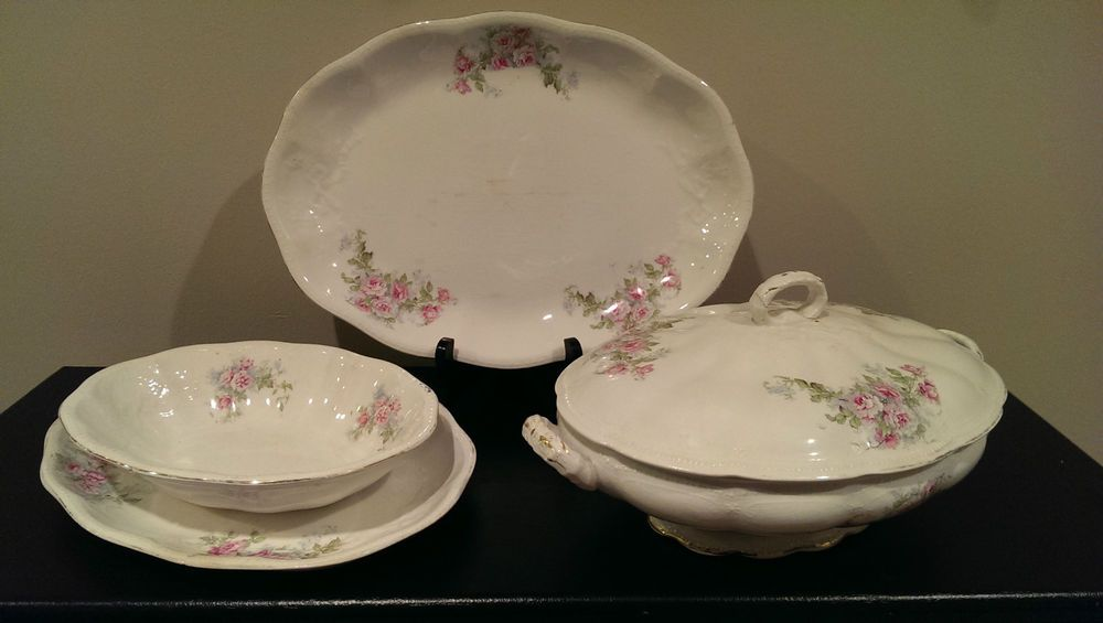 Antiques Lot Of 3 Antique Haviland Limoges Plates Pleasant To The Palate Plates & Chargers
