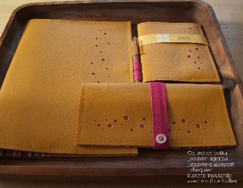 agenda, checking, passeport covers that i designed and created