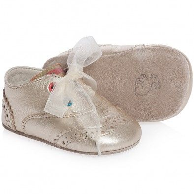 ceadb0503033 Paul Smith Junior Girls Gold Pre Walker Leather  Bluebell  Shoes at  Childrensalon.com