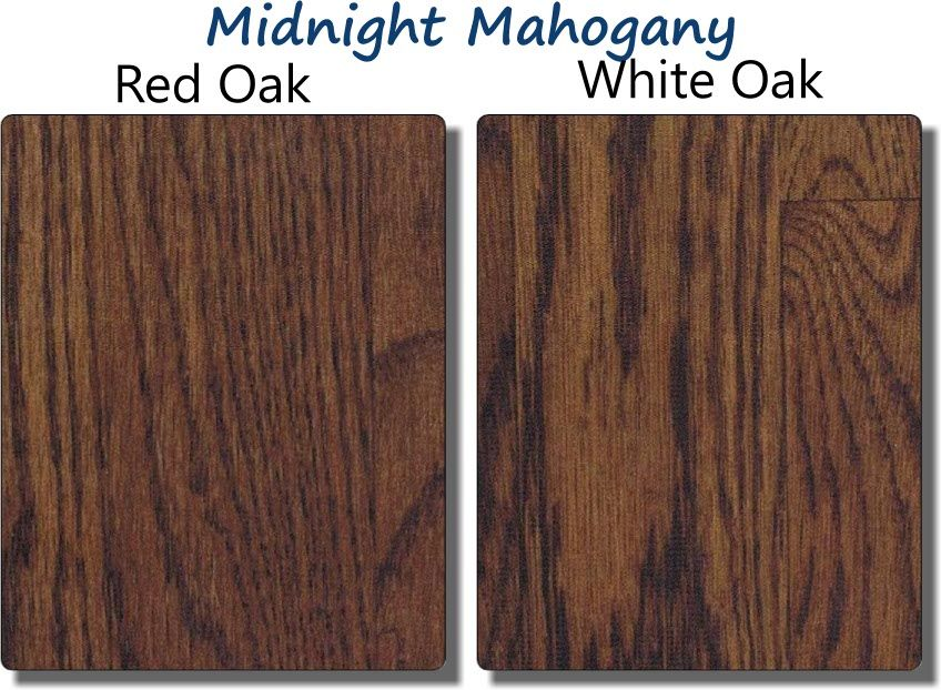 Bona midnight mahogany hardwood stain sample home