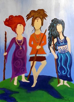 #resistance #togetherwerise #artwithavoice #womensmarch #womensempowerment Sisterhood Warrior Women Original Acrylic Painting Art with a Voice by Jeanne Fry