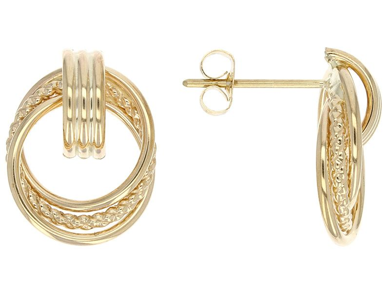 10k Yellow Gold Polished And Textured Door Knocker Earrings Jewelry Tv Buy Jewellery Online Jewelry