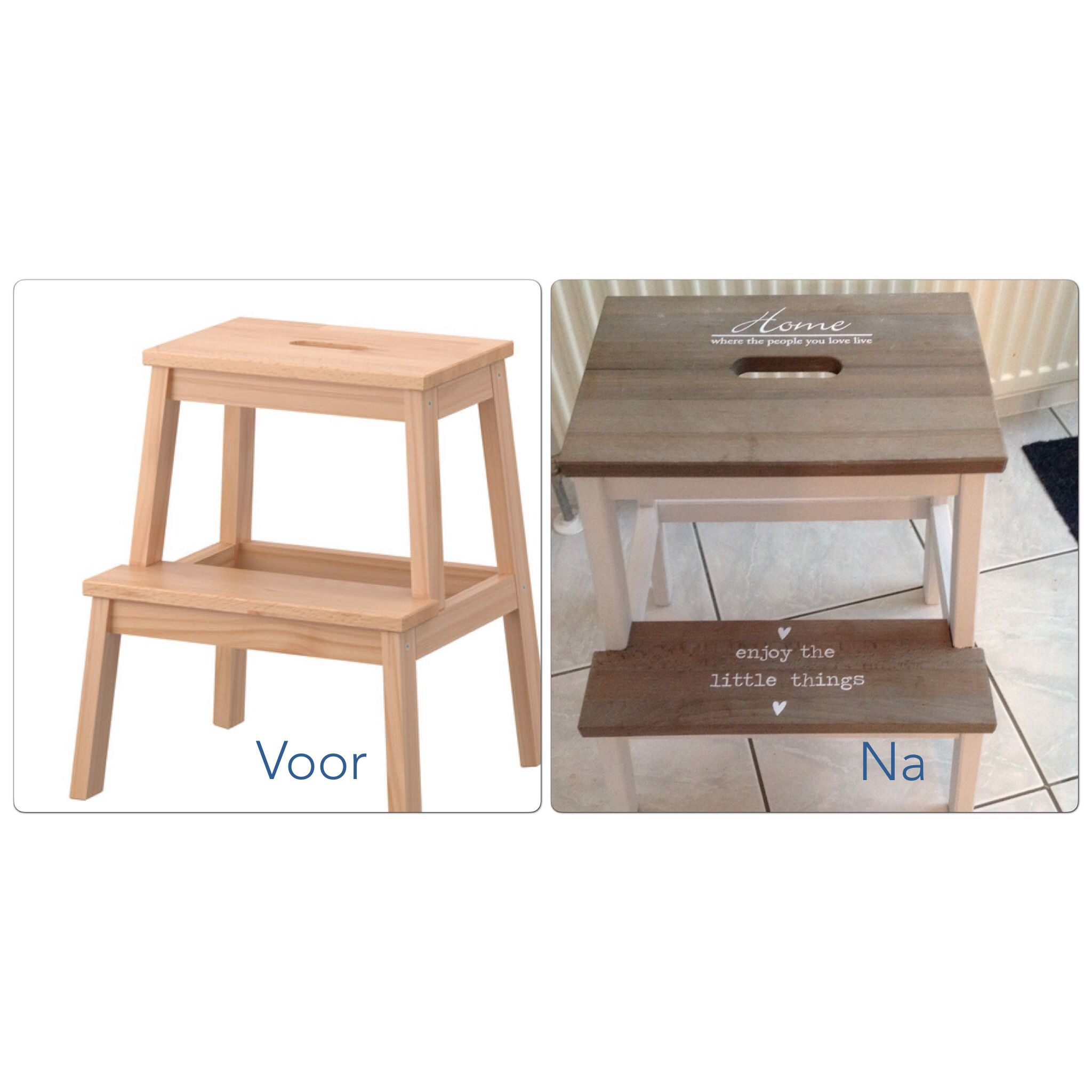 I already have this stool, so this would be an easy little project ...