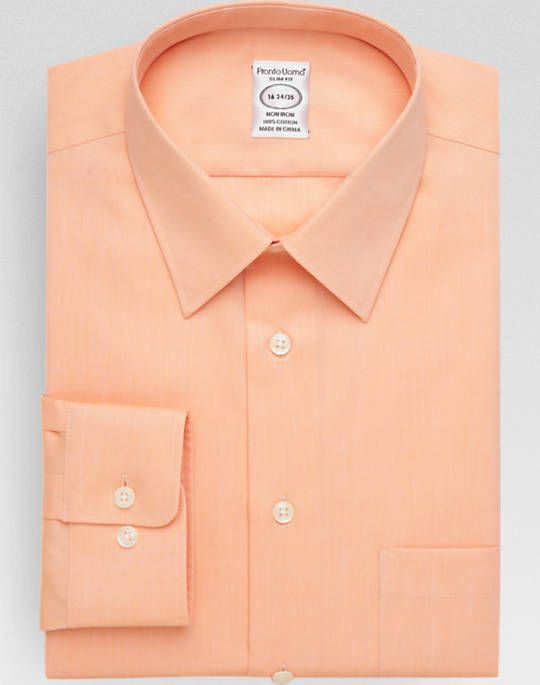05d93362451 Pronto Uomo Peach Queens Oxford Slim Fit Dress Shirt | need these ...